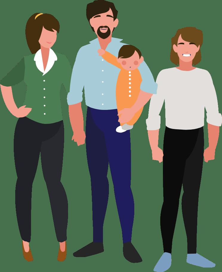 Grafisk element. Børnefamilien