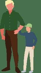 Grafisk element. Far og søn