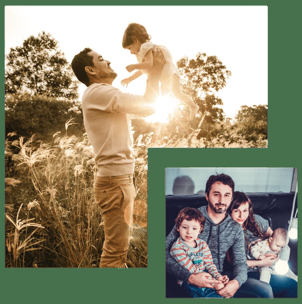Børnefamilie i bofællesskaber