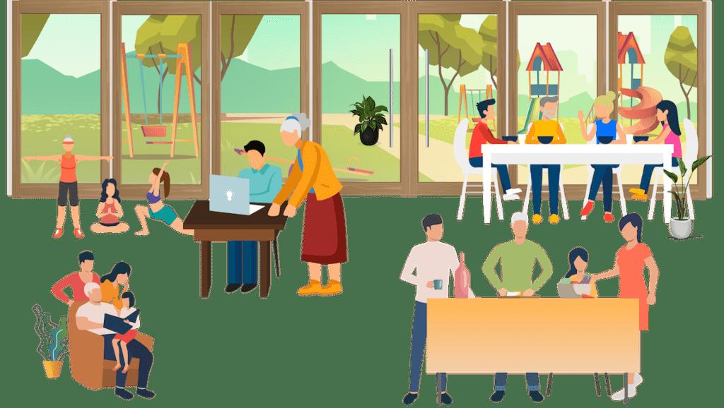 Fællesskaber i Fælleshuset